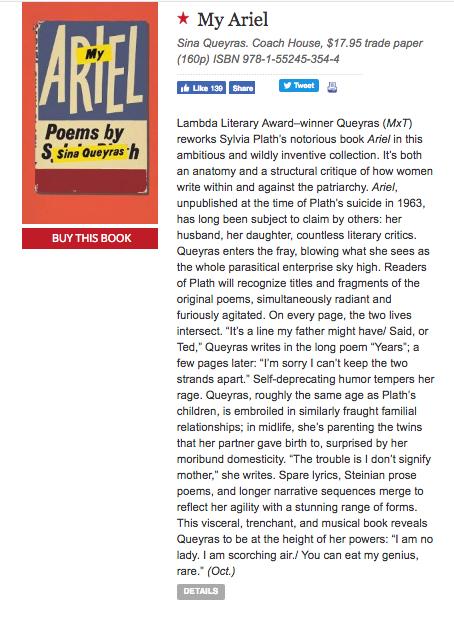 SQ My Ariel Publishers Weekly.jpg